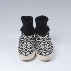 Chaussons-chaussettes bleus foncés H/F