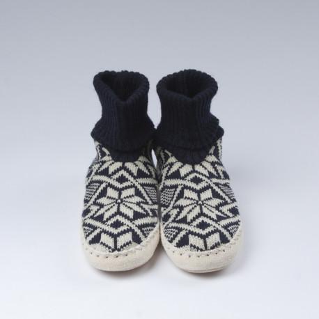 Chaussons-chaussettes bleus foncés