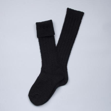 Longues chaussettes danoises en laine noire