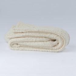 Longues chaussettes danoises en laine blanc cassé