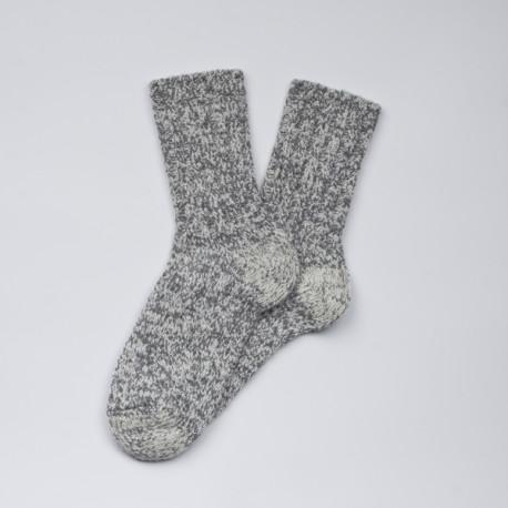 Grosses chaussettes grises en laine