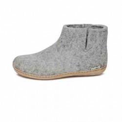 Chaussons Glerups gris clair en laine