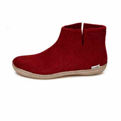 Chaussons Glerups rouge en laine