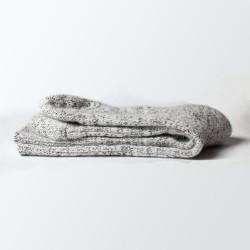 Chaussettes grises en laine et angora