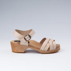 Sandales en cuir naturel petites pointures